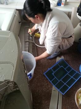 エアコンカバー洗浄